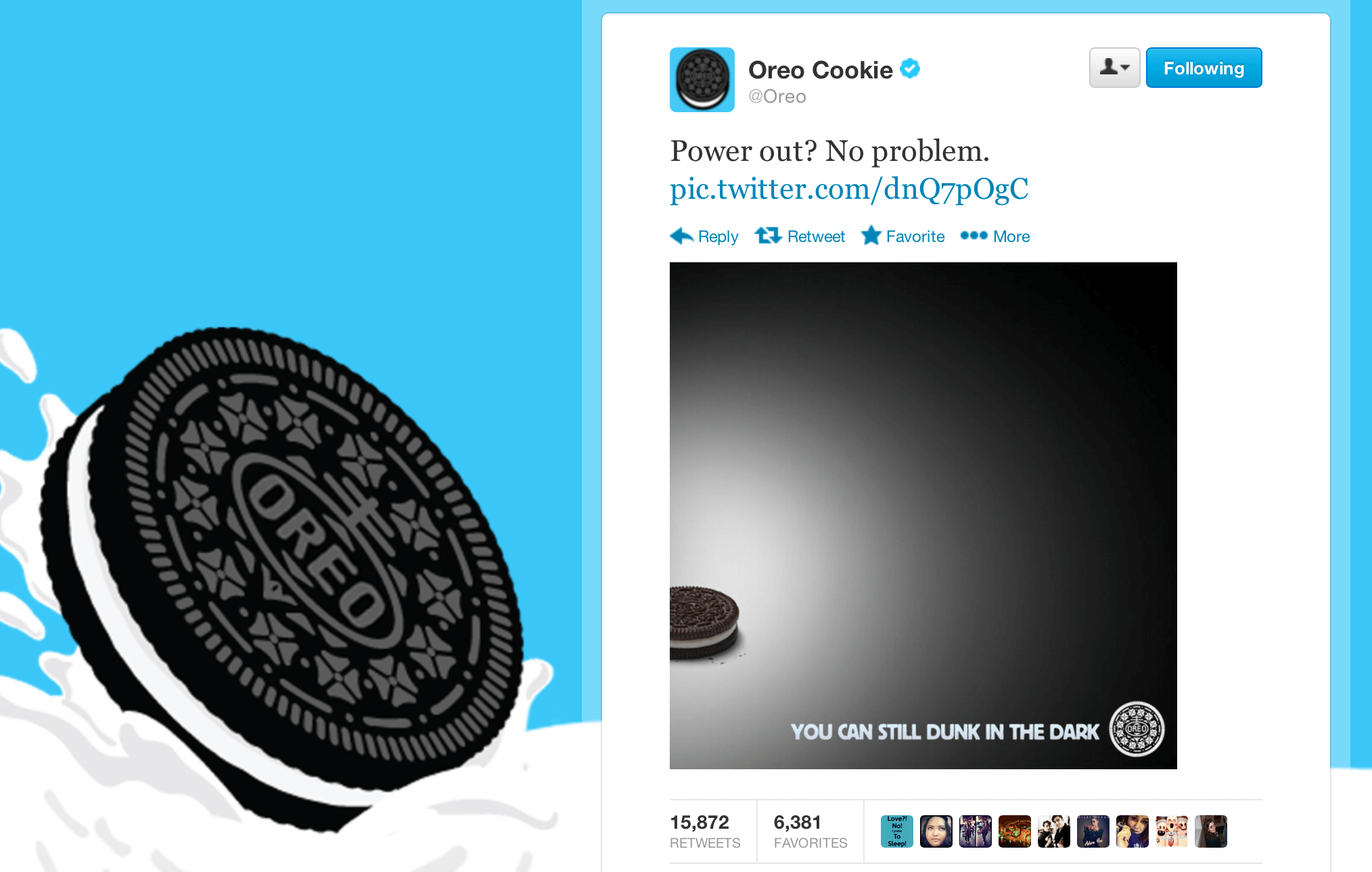 Image result for oreos blackout tweet""